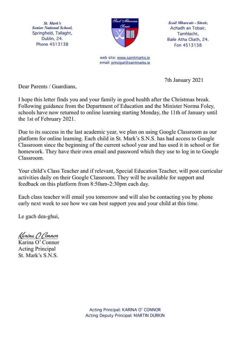 Letter to Parents 11th January.jpg